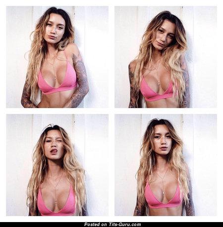 Jenah Yamamoto - sexy naked amazing lady with medium fake tittys pic