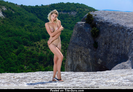 Libby - Lovely Topless British Blonde Babe with Lovely Defenseless Natural Tight Boobys (Xxx Pix)