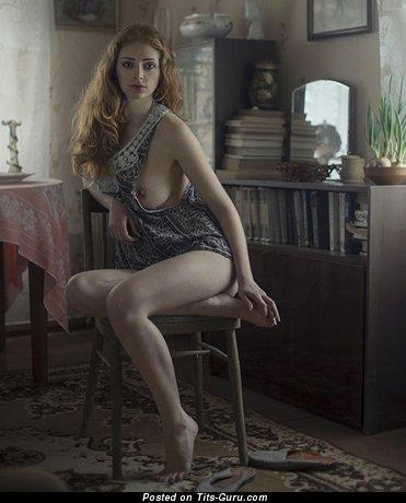 Image. Nude wonderful girl with medium natural breast photo