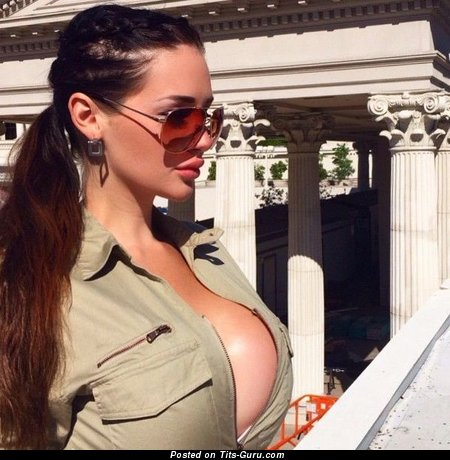 Alina Lewis - Dazzling Czech Brunette with Dazzling Open Silicone H Size Boobys (18+ Pic)