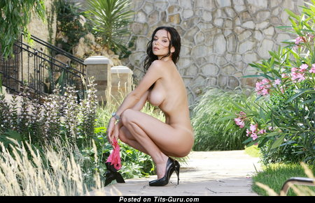 Image. Eugenia Diordiychuk - naked brunette with big natural tits image
