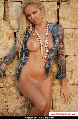 Aisleyne Horgan-Wallace - Cute Topless British Blonde with Cute Bald Regular Boobies (Hd Sexual Image)