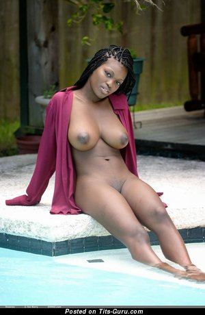 Image. Deserea - nude ebony with big natural tittes and big nipples image