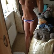 Amazing woman with big breast selfie