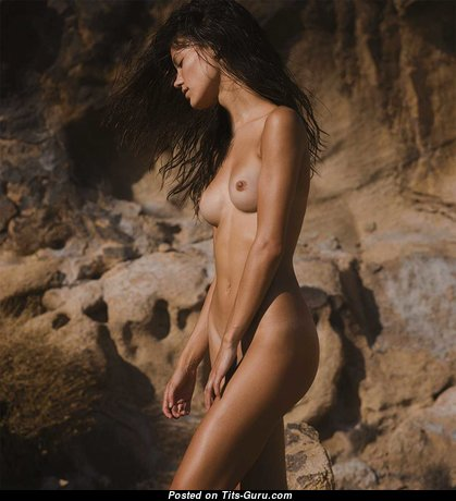 Exquisite Glamour & Topless Brunette Girlfriend with Exquisite Bare Poor Tittes (Hd Sex Photoshoot)