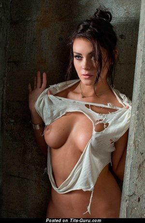 Image. Nude amazing female with medium natural breast pic