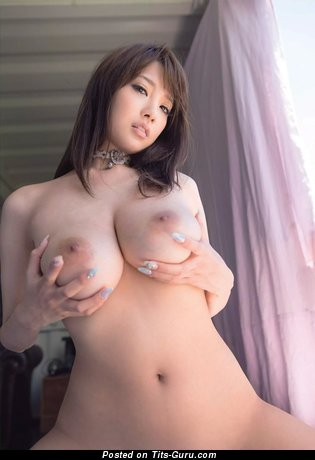Image. Sexy nude asian brunette with big tits picture