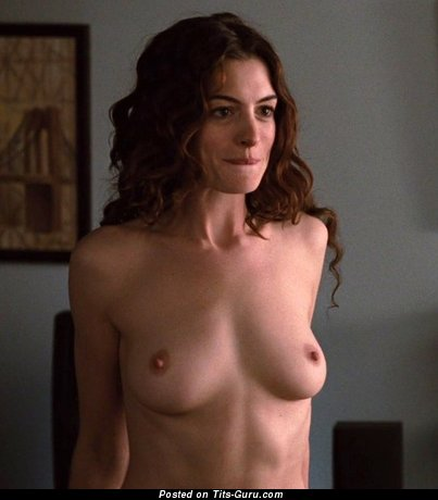 Image. Anne Hathaway - naked red hair with medium natural boobs photo