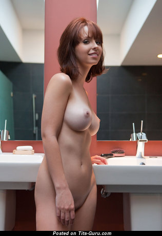 Image. Nude nice lady with medium natural boob photo