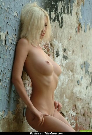 Image. Nude blonde with medium tots photo