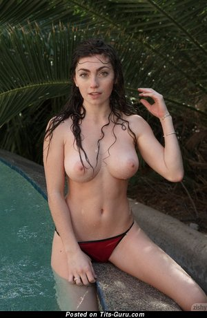 Gillian Barnes - Amazing Brunette Babe with Amazing Nude Real Med Chest (Hd Porn Wallpaper)