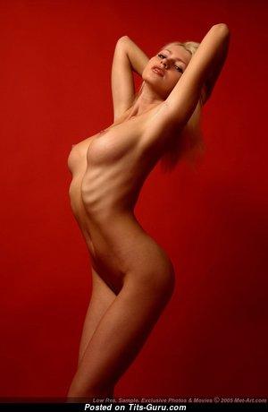 Maria D - Splendid Blonde Babe with Splendid Open Real Normal Tit (Porn Pix)