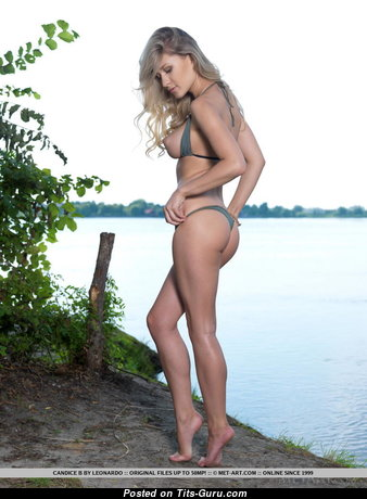 Candice Brielle - Awesome Blonde with Awesome Defenseless Natural Medium Sized Jugs (Sexual Photo)
