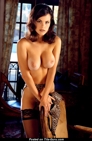 Alesha Marie Oreskovich - Sweet Topless Playboy Dish with Sweet Bare Average Boob (Vintage Sex Photo)