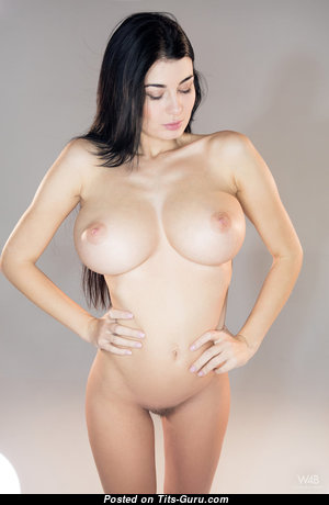 Lucy Li Aka Scarlett Lee - Awesome Topless Brunette Pornstar with Awesome Naked Medium Sized Knockers & Long Nipples (Hd Porn Foto)
