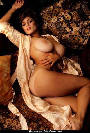 Image. Karen Price - sexy nude nice girl with medium natural boobies vintage
