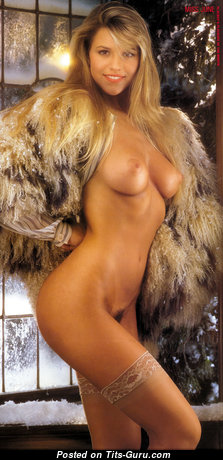 Lisa Matthews - Fascinating Topless Playboy Blonde with Fascinating Defenseless Natural D Size Tittes (Vintage Hd 18+ Wallpaper)