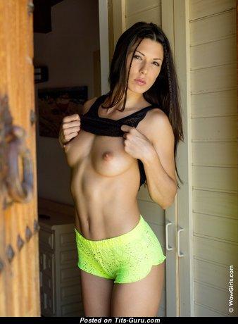 Alexa Tomas - Beautiful Latina Brunette Pornstar with Beautiful Bare Natural Meager Jugs & Sexy Legs (Hd Sexual Wallpaper)