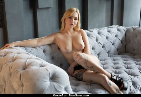 Sandy - Yummy Hungarian Blonde Babe with Yummy Naked Real C Size Titty (Hd Porn Picture)