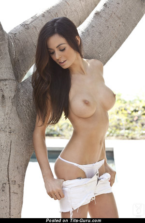 Image. Audrey Nicole - brunette with big fake tittes picture