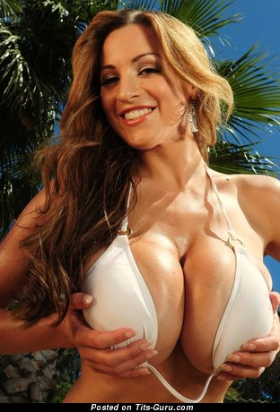 Image. Nude wonderful woman with huge fake boobs pic