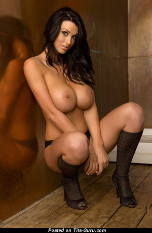 Image. Brunette with huge boobies photo