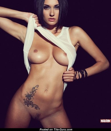 Image. Julia Androschuk - sexy nude brunette with big tots pic