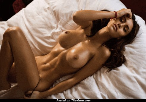 Image. Sexy wet latina brunette with huge boob and big nipples gif