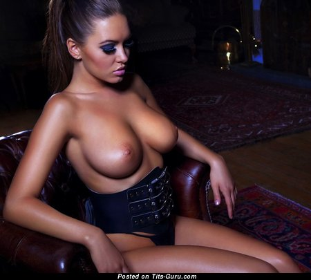 Sabine Jemeljanova - nude brunette with medium natural boobies picture