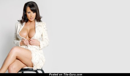 Image. Lisa Ann - nude brunette with big fake tittys pic