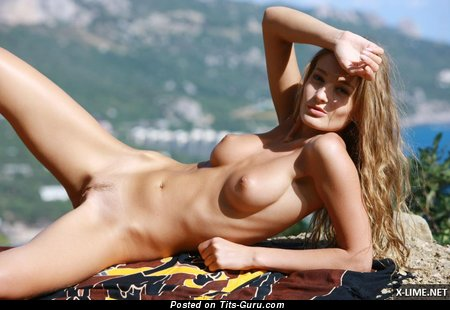 Image. Nude hot girl with medium natural tits photo