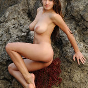 Awesome female with big natural breast photo