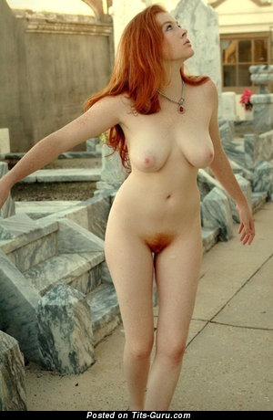 Image. Firecrotch - naked red hair with big natural tots pic