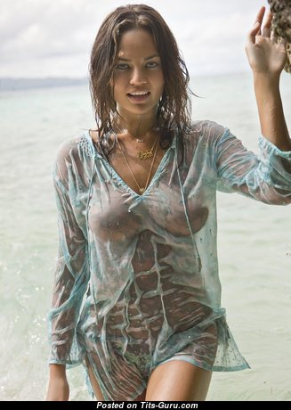 Chrissy Teigen & Sexy Topless American Brunette & Red Hair Babe with Sexy Open Real D Size Tittes & Huge Nipples (Hd Porn Picture)