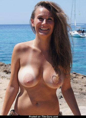 Image. Amateur nude awesome female with medium natural tots image