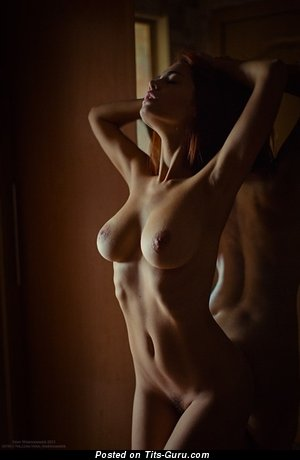 Image. Лидия Иванова - red hair with big natural breast pic