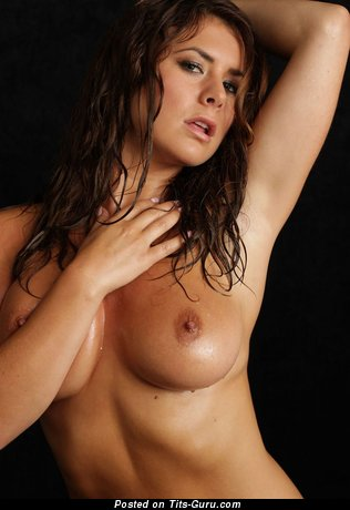 Image. Naked wonderful female with medium tits picture