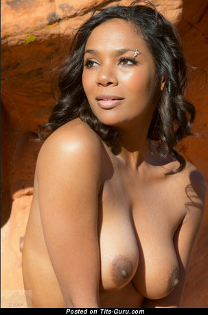 Image. Nude ebony with big natural boobs pic