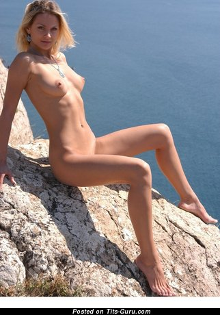 Image. Nude hot female with medium natural boobies photo