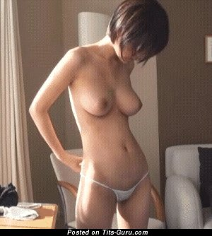 Image. Naked awesome woman with medium natural boob gif