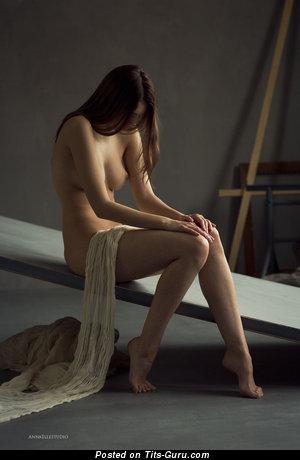 Image. Naked amazing girl with medium natural tittes photo