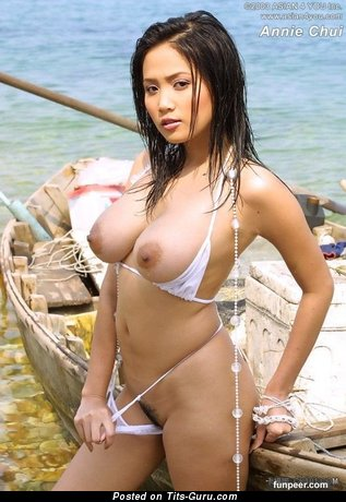 Annie Chui - Sexy Wet Chinese Brunette Babe with Sexy Exposed Real Regular Jugs (18+ Photoshoot)