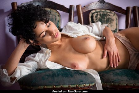Lovely Topless Brunette Babe with Lovely Nude Firm Titties (Hd Porn Photo)