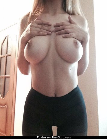 Perfect Topless College Honey with Perfect Open Firm Balloons (on Public Xxx Picture)