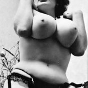 Amazing woman with big natural boobs vintage