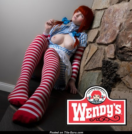 Marvelous Nude Red Hair Babe is Undressing (Cosplay Hd 18+ Photoshoot)