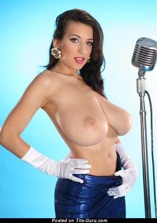 Jana Defi - topless brunette image