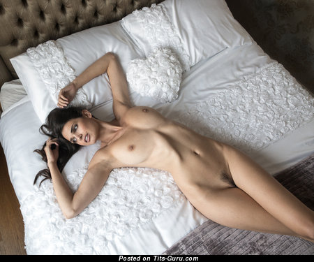 Image. Zoi Gorman - naked brunette with medium natural tittes image