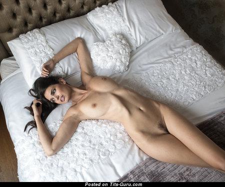 Zoi Gorman - naked brunette with medium natural tittes image