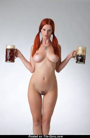 Image. Sexy topless red hair with big tittys and big nipples photo